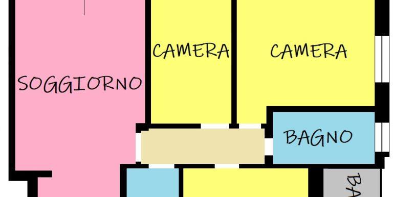 Piantina Menegolli 3 camere